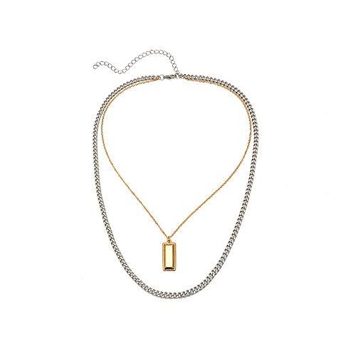 Multi-Layer Ketting Personality Simple Items Geometric Alloy Accessoires Populaire Modellen Dames Wilde Mode-Sieraden Geschikt Voor Gift