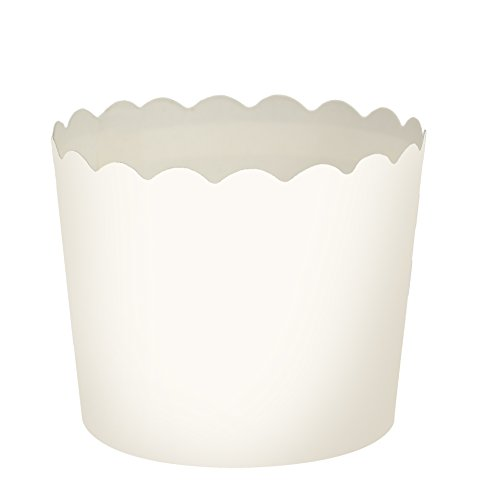 Blue Sky 1265 20 Count Scalloped Cupcake Baking Cups, Small, White