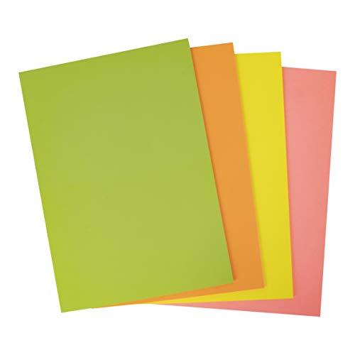 APLI 16216 - Cartoncini assortiti fluorescenti A4, 170 g, 50 fogli