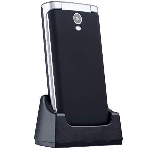 ISHEEP E9 GSM/2G Teléfono móvil con Tapa para Personas Mayores Teclas Grandes Pantalla de 2,8 Pulgadas con botón SOS (Nero)