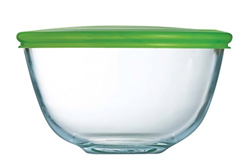 Pyrex Prepware Bowl With Green Lid 0.l