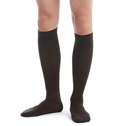Fytto 1067 Men's Compression Socks, Professional 15-20mmHg Knee-High...