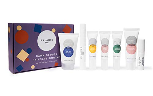 Balance Me Dawn To Dusk Skincare Routine Starter Kit Giftset AM + PM SelfCare For Your Skin Simple Routine for a Balanced Complexion, 1 count