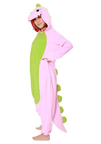 Kigurumi Pyjama Dinosaure Sazac Original (Pink) - pink - Adultes (1m50 a 1m80)