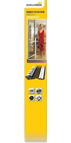 Schellenberg 70981 Insektsystem Rollo Standard Tür, 125 x 215 cm, weiß