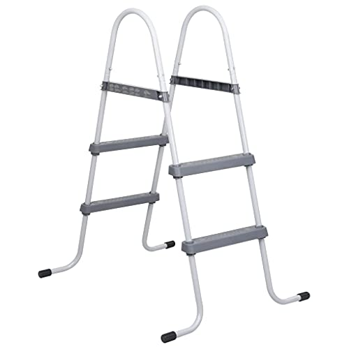 vidaXL Pool Ladder Above Ground Swimming Pools Safety Step Stair Stepping...