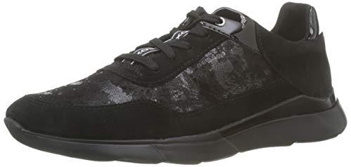 Geox Damen D Hiver A Sneaker, Schwarz (Black C9999), 39 EU