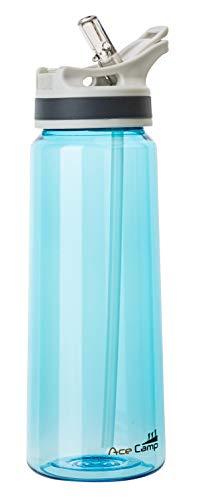 AceCamp TRITAN Trinkflasche | Wasserflasche auslaufsicher BPA-Frei | Sportflasche Trinkhalm I 750 ml I Blau I 15566