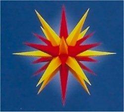 Julstjärna, adventsstjärna, original herrnhatt, för utomhus, plast, 130 cm, stjärnor, julstjärnor, adventsstjärna, original herrnhuter stjärna, gul/röd
