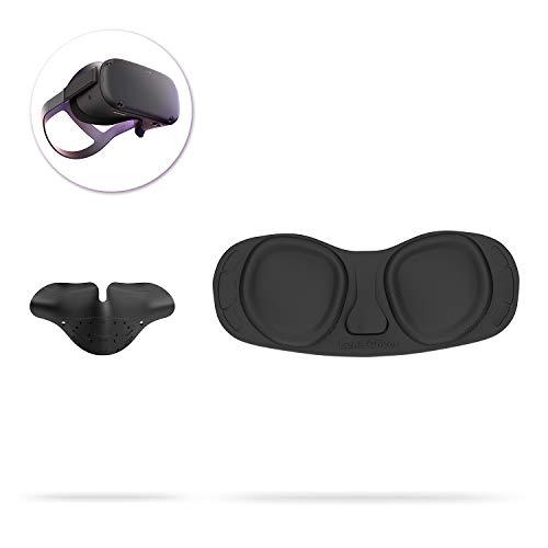 AMVR Staubdichter VR-Objektivschutzdeckel und undichtes Silikon-Nasenpolster für Oculus Quest und Rift S