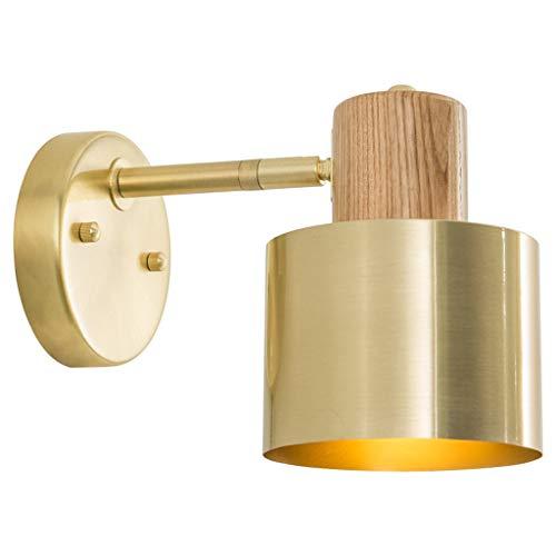 XINGDONG Lámpara de pared de latón para baño, espejo de armario, lámpara de pared para sala de estar, dormitorio, lámpara de pared duradera (color: C)