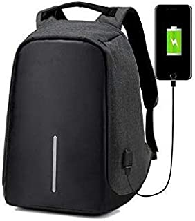 Anti-theft Unisex Laptop Notebook Backpack Travel School Bag w/USB Charger Port-mz2629