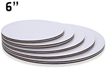 "6"" Inch White 200 Qty, Round Cardboard Cake Board"