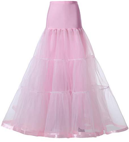 NKL Sottogonne Donna Balletti Danza Tutu Gonna dell'Annata Cocktail Swing Principessa Crinolina 50's Petticoat Retro Vintage 1950's Rockabilly (Rosa Chiaro, S-M)