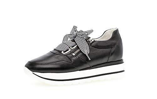 Gabor Damen Low Top Sneaker, Frauen Halbschuhe,lose Einlage,Best Fitting,Halbschuhe,straßenschuhe,Freizeitschuhe,weiblich,schwarz/Weiss,38 EU / 5 UK