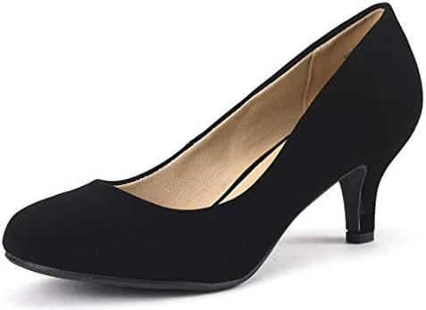 Round toe pumps low heel _image4