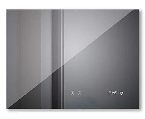 sogoo 60 x 80cm 24W Espejo LED Design Espejo de pared espejo luminoso LED con función antivaho para cuarto de baño, lámpara espejo de baño LED, espejo sala baño con iluminación integrado LED 6500 K