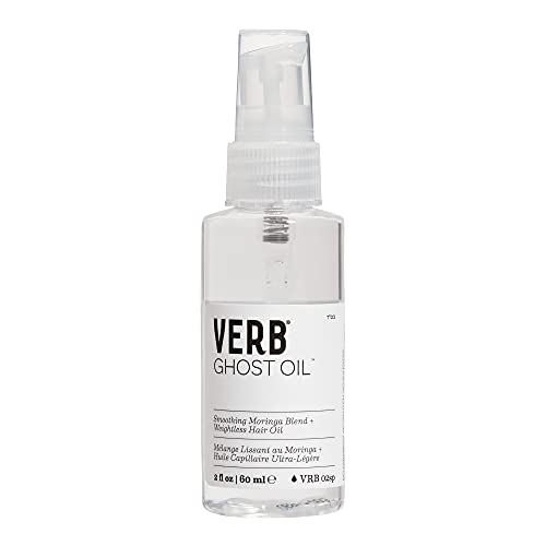 Verb Ghost Oil – Vegan Weightless Hair Oil – Lightweight Hair Oil – Revitalizing Hair Treatment Oil Nourishes and Promotes Shiny Hair – Paraben Free, Sulfate Free Smoothing Oil, 2 fl oz