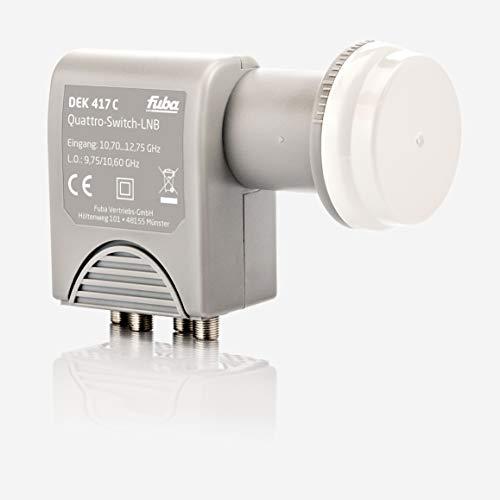 Fuba DEK 417 C Quad LNB - Quad Universal LNB / Quattro-Switch LNB 4 Teilnehmer mit optimaler Mobilfunkabschirmung, mit Wetterschutzgehäuse (digital, HDTV-tauglich, 4K/UHD-tauglich, 3D-tauglich)