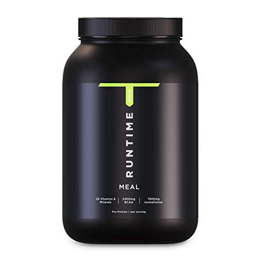 Runtime Meal - vollwertiger Mahlzeitersatz für langanhaltende Sättigung, Energie, Konzentration und Leistungsfähigkeit, mit Vitaminen und Nährstoffen (Matcha)