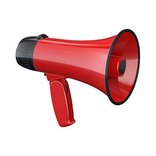iplusmile 拡声器 拡声器マイク トランペットメガフォン 1個 (赤)