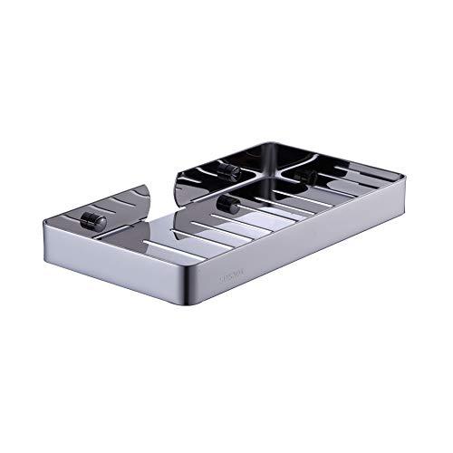 BOOKARROW Jabonera de acero inoxidable 304 montado en la pared, soporte cuadrado para jabonera, estante de baño o cocina 915-SD-XL