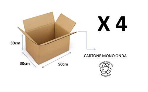 4 kartonnen dozen 50 x 30 x 30 cm in eengolvende kartonnen verpakking voor verzending / magazijn / doos Havanna NIEUW TRA