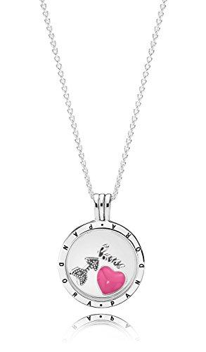 Pandora Halskette mit Medaillon-Set Liebesgefühle 35999-60