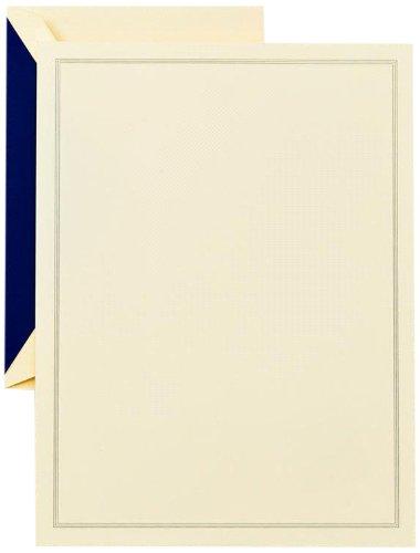 Crane & Co. Regent Blue Triple Hairline Half Sheet (CH3301)