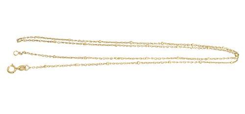 Hobra-Gold 50 Cm Feine Massive Goldkette 333 Mit Kugeln - Kette Gold - Kugelkette Halskette