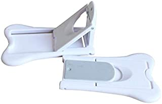 WTSHOP 2Pack Sliding Door Lock for Children Safety,Shower,Window,Wardrobe, Childproof Cupboard Kitchen Cabinet Glass Door Latch,Without Tool