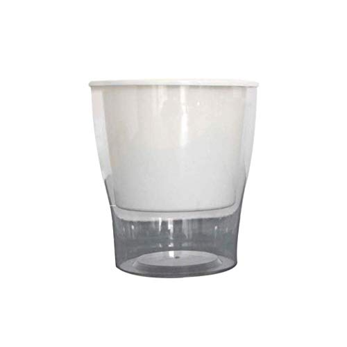 DOITOOL 1PC Maceta de Resina hidropónica Absorción de Agua Almacenamiento de Agua Crecimiento de la Planta Mantenga el Agua de Dos Pisos Transparente para Jacinto Scindapsus