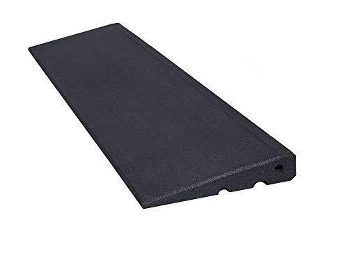 RO-FLEX Bordsteinrampe Excellent 45 mm aus hochverdichtetem Gummigranulat - Bordsteinrampe - Auffahrrampe - Türschwellenrampe (schwarz)