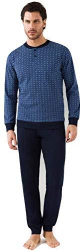 IL GRANCHIO Pigiama Uomo in Cotone Invernale (L/50, Jeans)