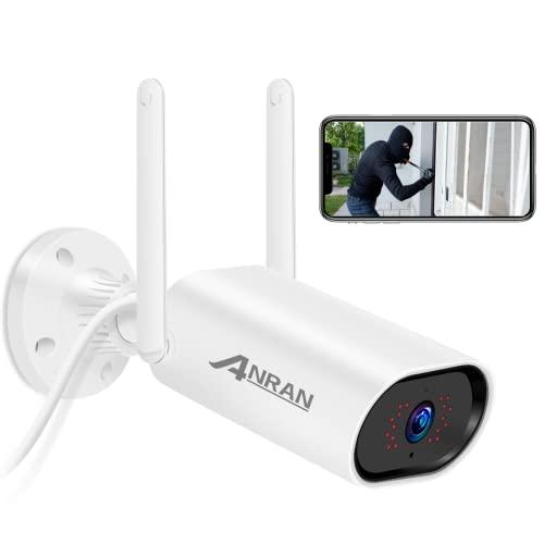 ANRAN Cámara de Vigilancia Inalámbrica para Exteriores e Interiores, 1080P Cámara IP Grabación de Sonido Intercomunicador Cámara de Seguridad Estanca Visión Nocturna Detector de Movimiento