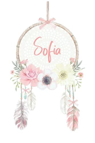 Sofia: 120 pages (6'x9') PINK, FLOWERS Notebook, Book for note taking, notes, planning, etc. matt Cover, Motivation Notebook With Flowers To Draw In, Special Gift For Her