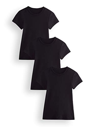 Marca Amazon - RED WAGON Thermal Camiseta Niñas, Pack of 3, Negro (Black Black), 116, Label:6 Years