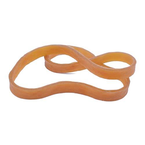 Lvcky Confezione da 25 elastici in gomma di grandi dimensioni e robusti, 160 x 6 mm di larghezza, per ufficio, casa, scuola, colore giallo scuro