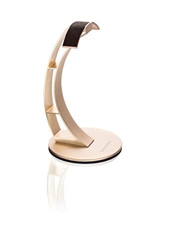 Oehlbach Alu Style - Hochwertiger Kopfhörerständer Aluminium eloxiert - Materialschonende Lederablage für Kopfhörer - sandgold