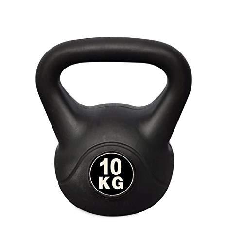 Pesa rusa Kettlebell Fitness de 10 KG en PVC con arena y mango anti-roces