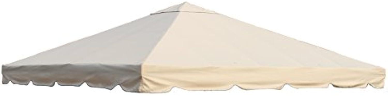 OUTFLEXX Ersatzdach aus hochwertigem Polyester in beige für Pavillons 3 x 3 Meter, Gartenzubehr, Pavillondach, wetterfest, wasserabweisend, imprgniert, Zeitloses Design, naturfarben