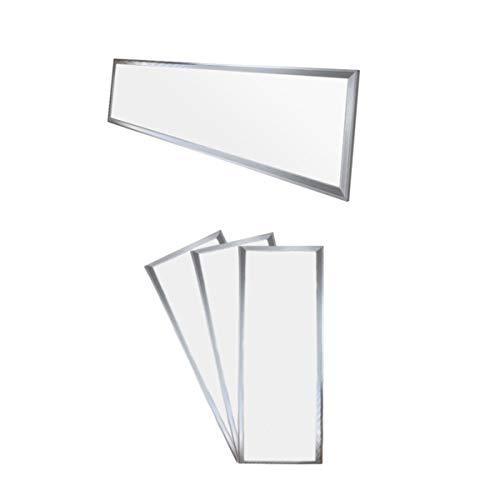 ECD Germany 3 x LED Panneau 42W - 120 x 30 cm - Ultra mince - SMD 3014 - Blanc neutre 4000K - 220-240 V - Environ 2831 lumens - Plafonnier encastré