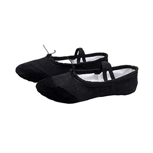 Mujeres AYPOW Zapatillas de Ballet para Mujer Zapatillas de Baile Zapatillas de Yoga Zapatillas de Pilates Zapatillas de Lona con Suela Dividida Plantas Suaves para ni/ña