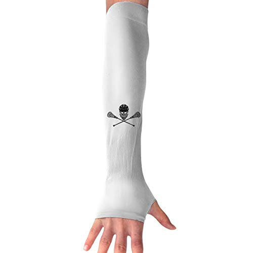 Lacrosse Langarm-Handschuh, Sonnenschutz, Armmanschette mit Daumenlöchern, Schwarz