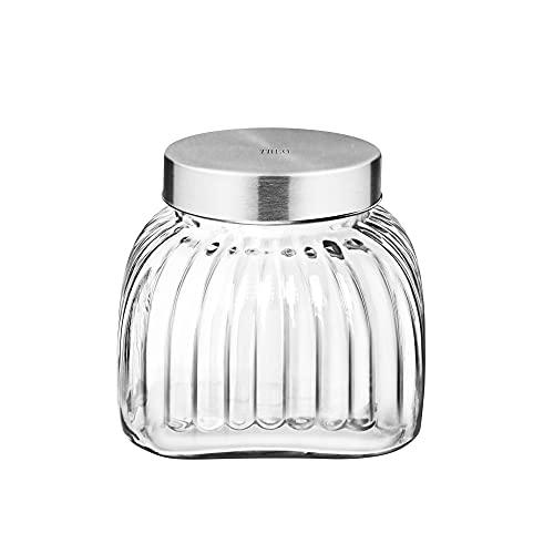 Treo By Milton Bruno Glass Storage Jar, 2500 ml (Transparent)