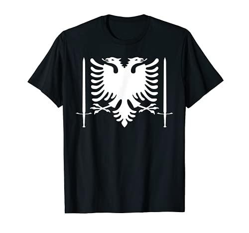 Albanien Stolz Kämpfer Krieger Schwerter T-Shirt