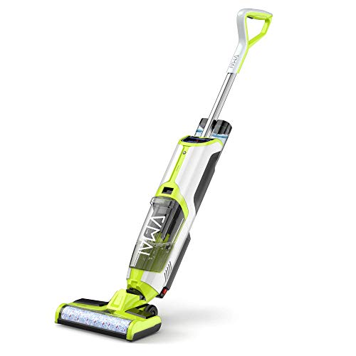 Wet Dry Vacuum Cleaner, Cordless Vacuum Cleaner and Mop for Hardwood Floor & Area Rugs, Wet-Dry Floor Cleaner with Separate Clean & Dirty Water Tank, Voice Assistance, Self-Cleaning, Water Spray