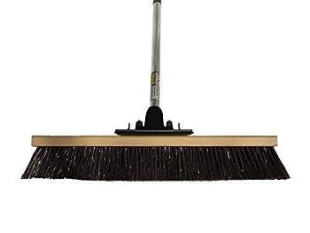 FlexSweep Unbreakable Commercial Push Broom  Contractors 24 Inch  Coarse Bristles