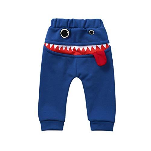 Jungen Mädchen Jogginghose Cartoon Hai Lächel Gesicht Baggy Freizeithose Kinder Harem Hose Elastischer Bund Sporthose Pants