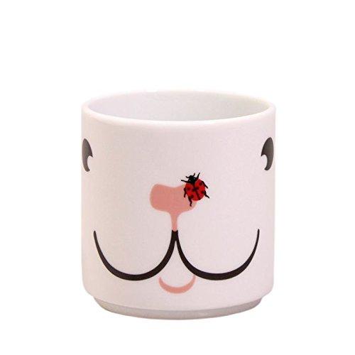 Feinkost Käfer Vajilla, Porcelana, Blanco, Rojo y Negro, 9.5 x 7 x 7.5 cm, 6 Unidades